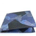 Blue Camo Tyvek® Flat Wallet W/RFID