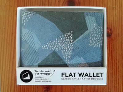 Blue Camo RFID Flat Wallet